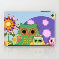 bebop iPad Cases featuring Owls, Flowers Fantasy design by thea walstra