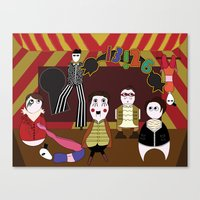 panic at the disco Canvas Prints featuring Panic! At The Disco Jeremyville Fan Art by Eileen Fioramonti