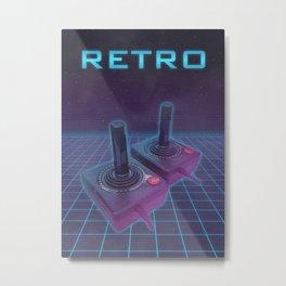 Retro Promo Poster 80's Console Metal Print