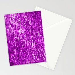 Vertical metal texture of bright highlights on pink waves. Stationery Cards