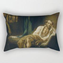 Eugne Delacroix - Le Tasse dans la maison des fous Rectangular Pillow