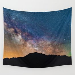 Mountain Galaxy (Color) Wall Tapestry