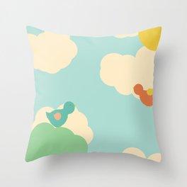 Birds in the Sky Throw Pillow
