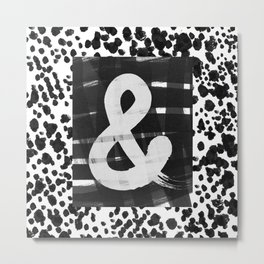 Ampersand Brush Metal Print