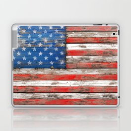 USA Vintage Wood Laptop & iPad Skin
