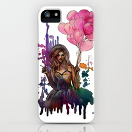 les ballons roses iPhone Case