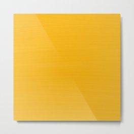 Sun Drenched Honey Mustard - Subtle Brush Texture Metal Print