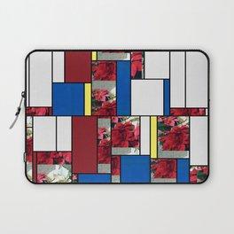 Mixed color Poinsettias 3 Art Rectangles 4 Laptop Sleeve