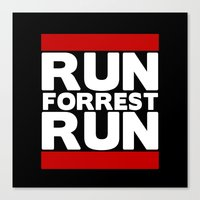 forrest gump Canvas Prints featuring Forrest Gump Run by Spyck
