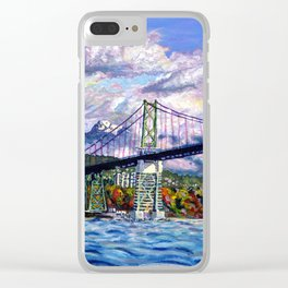 The Lions Gate, Vancouver Clear iPhone Case