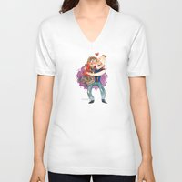 the goonies V-neck T-shirts featuring Goonies Hug by Super Group Hugs