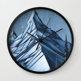 'Cystal Mountain I' Wall Clock