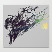 raven Canvas Prints featuring Raven by Ryky
