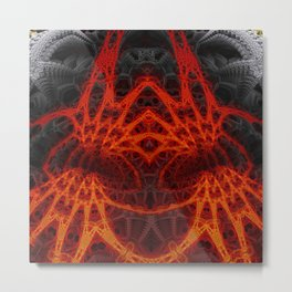 Blood Angel Volcano Metal Print