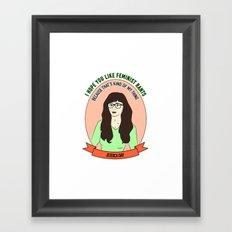 Jessica Day / New Girl Print Framed Art Print