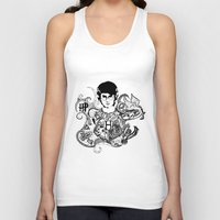 potter Tank Tops featuring Harry Potter by Ink Tales