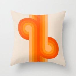 Creamsicle Knots Throw Pillow