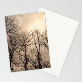 Creepy naked trees Stationery Cards