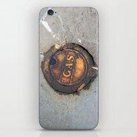 pocket fuel iPhone & iPod Skins featuring Sidewalk Fuel by Exavia B