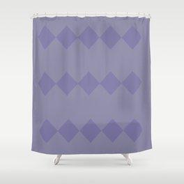 Purple Diamond Design Shower Curtain