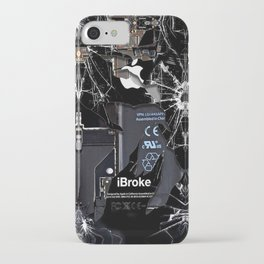 Broken, rupture, damaged, cracked black apple iPhone 4 5 5s 5c, ipad, pillow case and tshirt iPhone Case