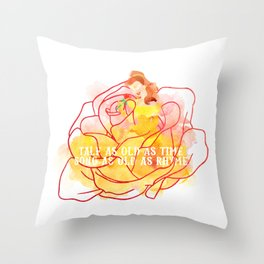 Tale as old as time Throw Pillow