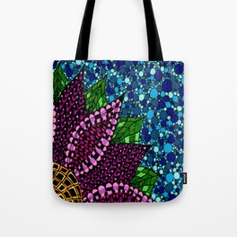 Stained Glass Flower Tote Bag