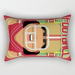 American Football Red and Gold - Hail-Mary Blitzsacker - Indie version Rectangular Pillow