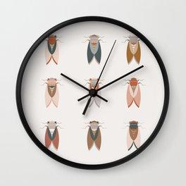 Cicadas in organic colors Wall Clock