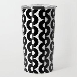 Modern abstract geometrical black white pattern Travel Mug