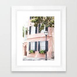 The Peach House - Charleston, SC Framed Art Print