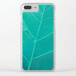 Leaf in Aqua Clear iPhone Case