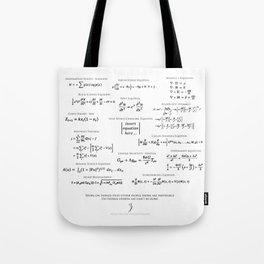 High-Math Inspiration 01 - Black Tote Bag