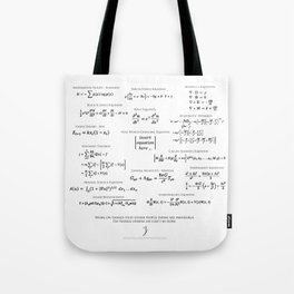High-Math Inspiration 01 - Black Tote Bag