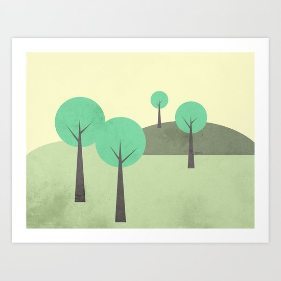 Whimsical Nature Landscape Art Print