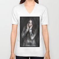 vampire V-neck T-shirts featuring Vampire by Justin Gedak