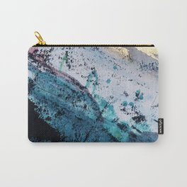 Twilight [2]: a beautiful, abstract watercolor + mixed-media piece in blue, gold, purple, + pink Carry-All Pouch