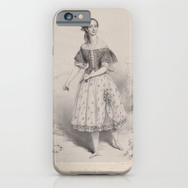 Soyer Emma  ArtisMademoiselle Taglioni in the ballet of La gitana dedicated by permission to Her Royal Highness the Princess Augusta of CambridgeAdditional Gitana iPhone Case