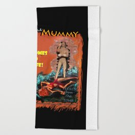 Woman in the red dress meets The Mummy Beach Towel