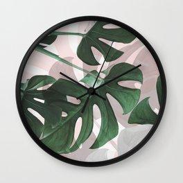 Monstera Play Wall Clock