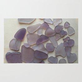 Genuine Purple Sea Glass Collection Rug