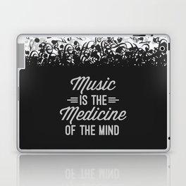 Music Medicine Mind Quote Laptop & iPad Skin