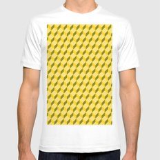staircase pattern  Mens Fitted Tee White MEDIUM