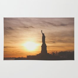 Lady at Sunset Rug