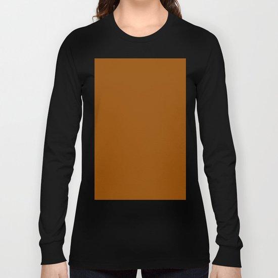 (Brown) Long Sleeve T-shirt
