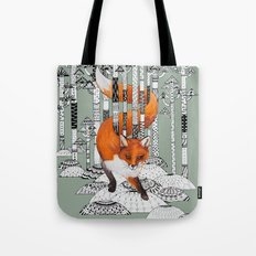 Fox Forest Tote Bag