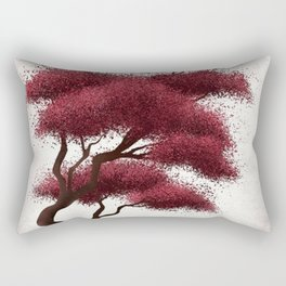 Pink peaches tree Rectangular Pillow