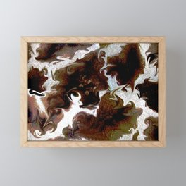 Neo animalic cow milky print Framed Mini Art Print