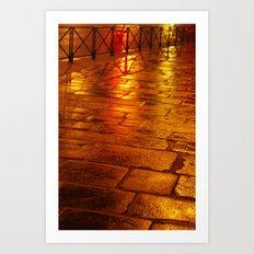 Orange Pave Art Print