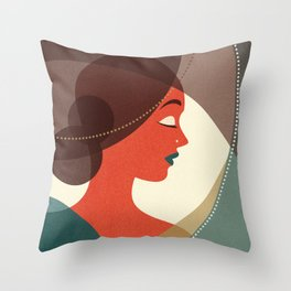 Venn Deco (Part IV) Throw Pillow
